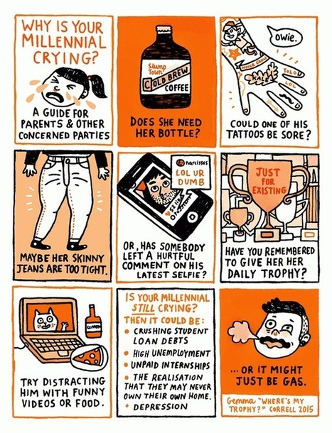 Why Is Your Millennial Crying? A Guide for Parents & Other Concerned Parties by Gemma Correll | fitness, health,news&music | Scoop.it
