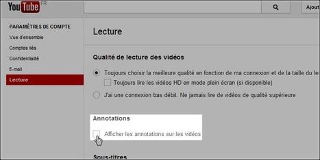 YouTube : Désactiver les annotations sur toutes les vidéos | Time to Learn | Scoop.it