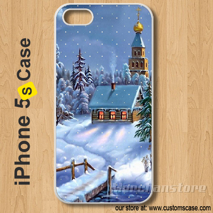 Christmas Scene Snow Custom iPhone 5S Case Cover | Merchanstore - Accessories on ArtFire | Custom iPhone 5s Case Cover | Scoop.it