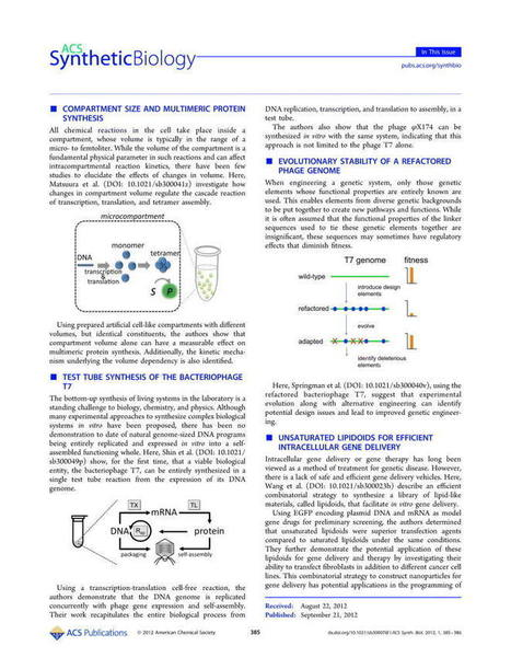 In This Issue - ACS Synthetic Biology (ACS Publications)   Bioinformatics Training   Scoop.it