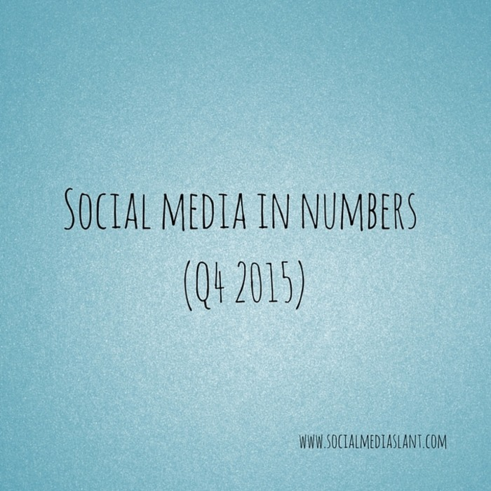 Social media in numbers (Q4 2015) | Business in a Social Media World | Scoop.it