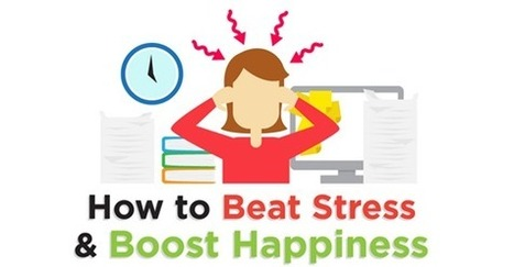 INFOGRAPHIC: How to Beat Stress and Boost Happiness | Psicología Positiva, Felicidad y Bienestar. Positive Psychology,Happiness & Wellbeing | Scoop.it