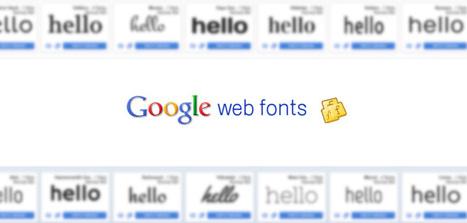 Pourquoi utiliser les polices Google ? | Les Outils - Inspiration | Scoop.it