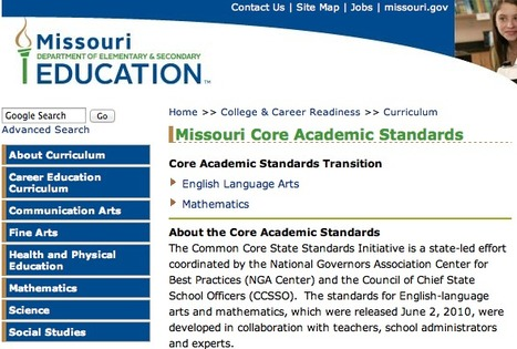 Common Core State Academic Standards | Missouri | College and Career-Ready Standards for School Leaders | Scoop.it