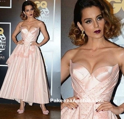 Kangana Ranaut in Pink barbie Doll Strapless Outfit by Ulyana Sergeenko | Indian Fashion Updates | Scoop.it