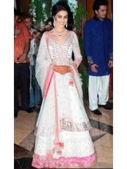 Genelia D'souza White and Pink Lehenga with Dupatta B-16 | online shopping | Scoop.it