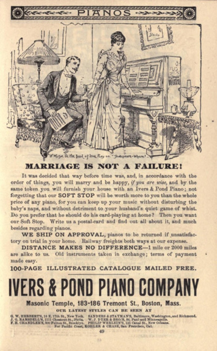 Marriage Is Not A Failture - IF You Have an Ivers & Pond Piano | Herstory | Scoop.it