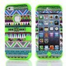 preferential Bayke® 3in1 Hybrid High Impact Green Hard Aztec Tribal Pattern + Green Silicone Case Cover For Apple iPhone 5 only $7.8 | hotsales | Scoop.it