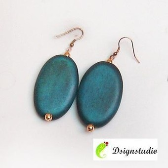 Turquoise Wooden Earrings - Craftsia - Indian Handmade Products & Gifts | Indian Handmade Jewelry | Scoop.it