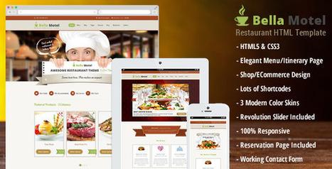 Bella Motel – Restaurant & Bakery HTML (Food)   Site Templates Download   Scoop.it