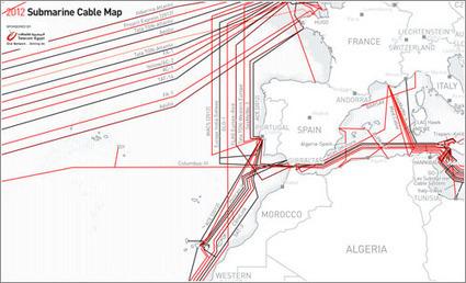 Mapa de los cables submarinos 2012: las conexiones del mundo. | TIG | Scoop.it