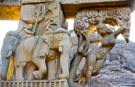 Intricate Inscriptions on Buddhist Monuments at Sanchi | Heritage Sites in India | Scoop.it