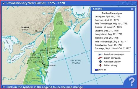 Interactive Map: Revolutionary War Battles, 1775 - 1778 | American Revolution | Scoop.it