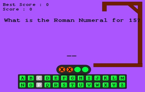 Roman Numerals   Hangman Game   Roman Numerals   Scoop.it