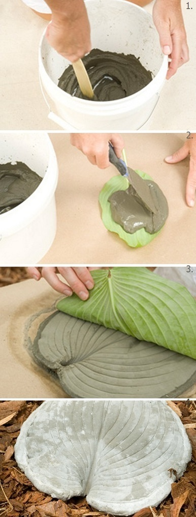 How to make a Leaf Stepping Stones | Backyard Gardening | Scoop.it