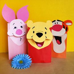 Cómo hacer títeres de Winnie Pooh y sus amigos | Manualidades ... | Qui no té feina el gat pentina | Scoop.it