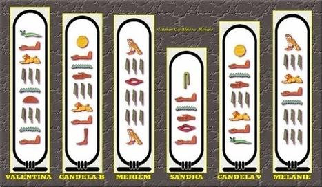 Jugando y aprendiendo juntos: Jeroglíficos Egipcios: Escribimos nuestro nombre | Enseñar Geografía e Historia en Secundaria | Scoop.it