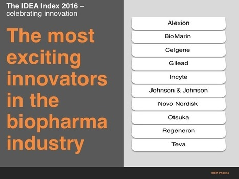 Celebrating Biopharma Innovation: The Top 10 | Thought leadership and innovation for the Pharmaceutical Industry - EyeforPharma | PharmaChange | Scoop.it
