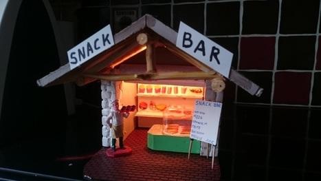 [Coup de ♥] Fabrication d'un petit stand Snack Bar pour le village de Noël par Chris1966 sur le #CDB | Best of coin des bricoleurs | Scoop.it