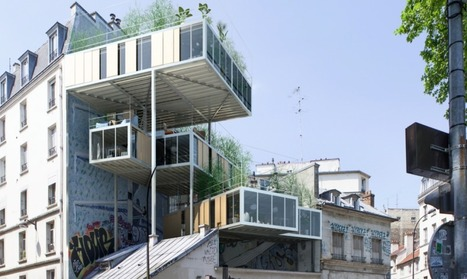 Parasite Houses of Paris: Rooftop Prefabs Cling to Buildings | Archivance - Miscellanées | Scoop.it