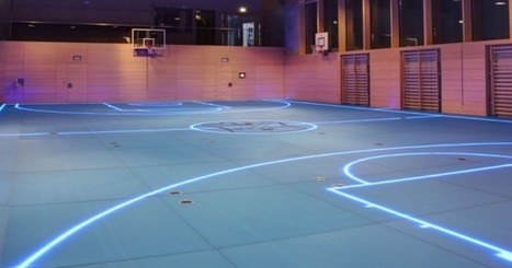 Gym's smart floor uses LED lights for changeable boundary lines - Digital Trends | Creative lighting | Scoop.it