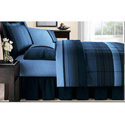 Walmart: Mainstays Ombre Bed in a Bag Bedding Set, Blue | Blue and White Bedding | Scoop.it
