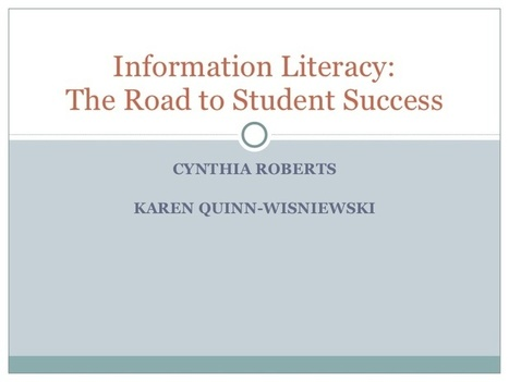 Information Literacy: The Road to Student Success | Ngoding | Developing effective online research skills | Scoop.it