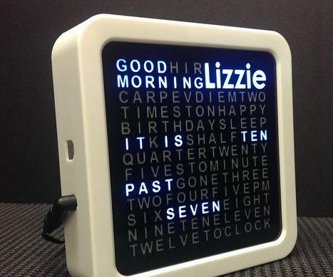 Personalised Word Clock | Arduino, Netduino, Rasperry Pi! | Scoop.it