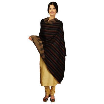 Pure Kashmir Pashmina Reversible Stripes Shawl   Talkingthreads   Scoop.it