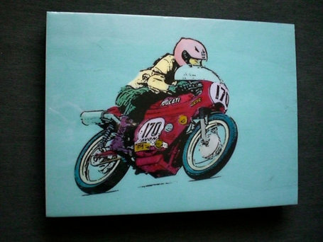 Ducati Racer Painting | BarrycroStudios | Etsy.com | Desmopro News | Scoop.it