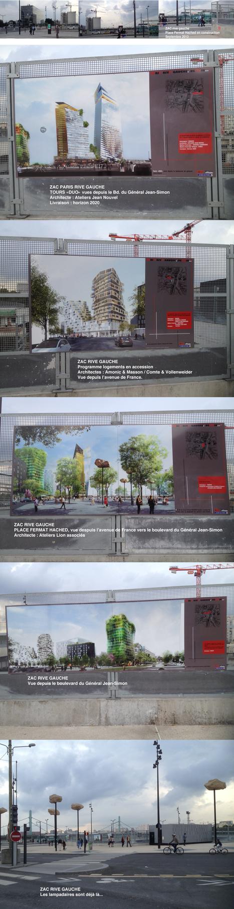 Paris XIIIème - ZAC Rive Gauche: visite dominicale d'une partie du chantier, place Fermat Hached | The Architecture of the City | Scoop.it