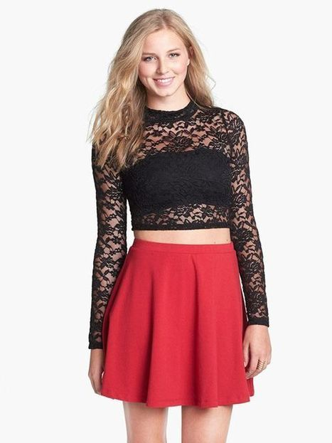 Black Long Sleeve Lace Slim Sexy T-Shirt : KissChic.com | Kisschic Fashion Dresses | Scoop.it