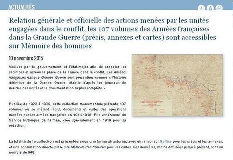 Nouveau sur MdH : les AFGG (Armées Françaises dans la Grande Guerre) | Au hasard | Scoop.it