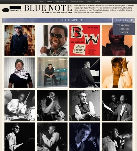 Blue Note, une application Spotify pour les amateurs de jazz | all of my favorites subjects as those related to music | Scoop.it