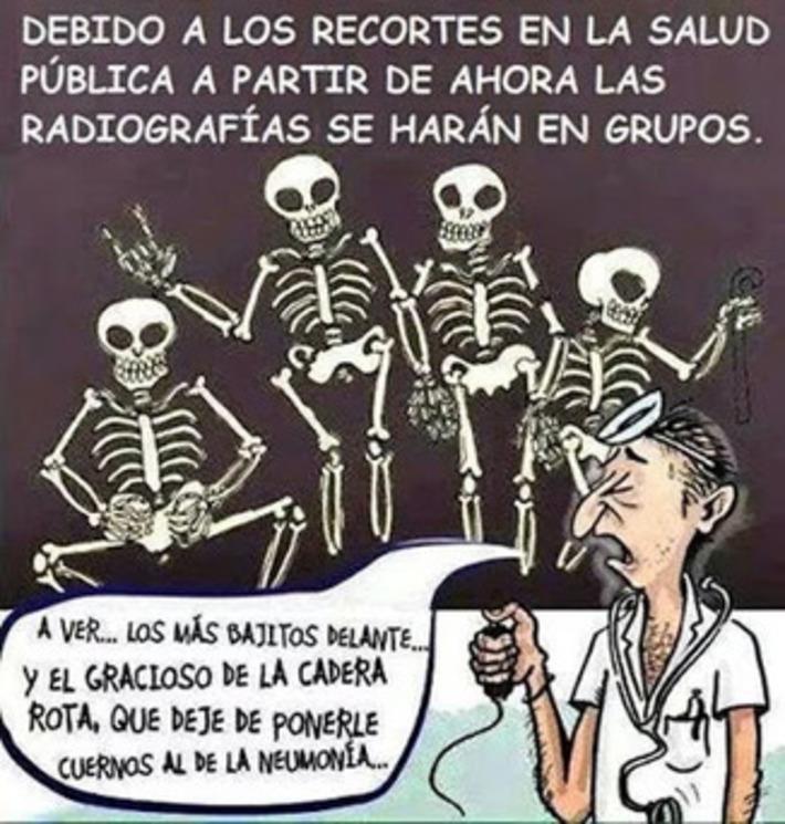 Humor con los recortes en Sanidad. Radiografías.   Partido Popular, una visión crítica   Scoop.it
