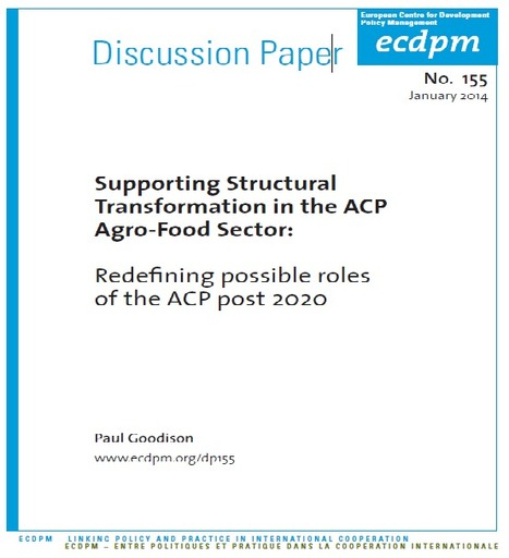 Supporting Structural Transformation in the ACP Agro-Food Sector: Redefining possible roles of the ACP post 2020 | International Development Cooperation | Scoop.it