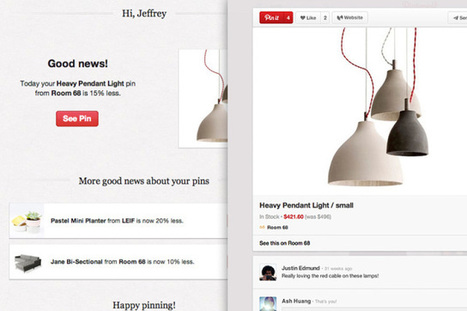 Pinterest Adds Price Alerts To Turn Aspirational Pins Into Purchases | TechCrunch | Public Relations & Social Media Insight | Scoop.it