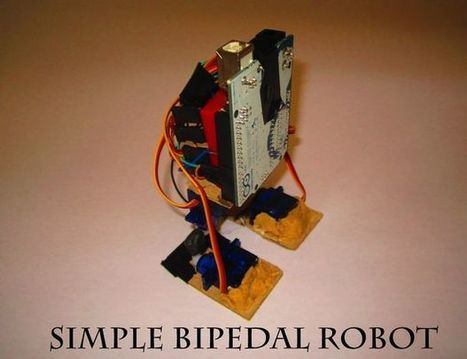 Make A Simple Bipedal Humanoid Robot (Servo Walking Robot) | Teknologia Hezkuntzan | Scoop.it