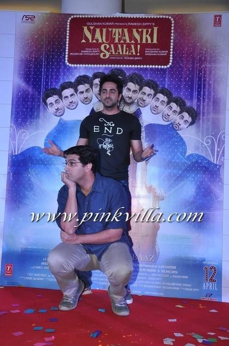 Ayushmann Khurrana, Kunaal Roy Kapur & others at the music ... | Romantic Comedy Film Nautanki Saala Video Trailer Released | Scoop.it