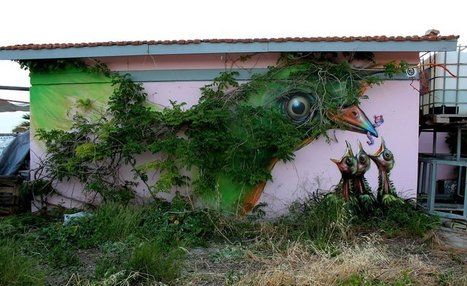 28 Pieces Of Street Art That Cleverly Interact With Their Surroundings | Facilitation graphique et pensée visuelle | Scoop.it