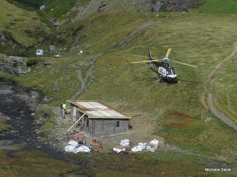 Danse d'un hélicoptère ravitailleur au dessus de la cabane de Badet | Facebook | Vallée d'Aure - Pyrénées | Scoop.it