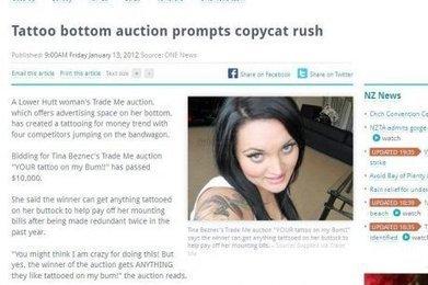 Elle vend ses fesses aux tatoueurs pour payer ses factures | Mais n'importe quoi ! | Scoop.it