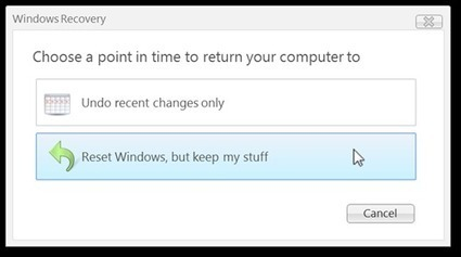 Microsoft de-cloaks Windows 8 push-button lifesaver | Microsoft | Scoop.it