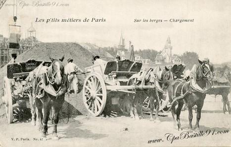 CPA -les P'tits métiers de Paris – Sur les berges-Chargement | Cartes Postales Anciennes | GenealoNet | Scoop.it
