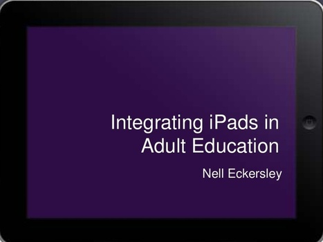 Integrating iPads in Adult Education | ipadification | Scoop.it
