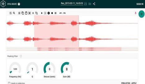 Hya: editor de audio en línea y gratuito | Educación a Distancia y TIC's | Scoop.it