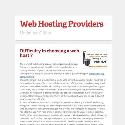 Web Hosting Providers   web hosting   Scoop.it
