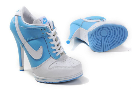 Women Nike Dunk SB Low Heels Blue White | my want collection | Scoop.it