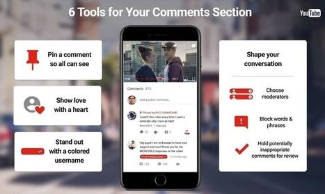 YouTube offre 6 outils pour gérer et modérer les commentaires des vidéos | Contenus vidéo sur internet : de la puissance à l'exigence | Scoop.it