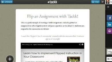 Tackk – An Easy Free Tool for Creating Digital Assignments, Blended or Flipped Content | Serious Play | Scoop.it